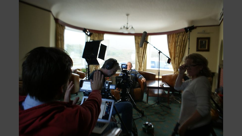 Chris Murphy WSW DP on location Isle of Skye shoot with Robbie Fraser for BBC Alba
