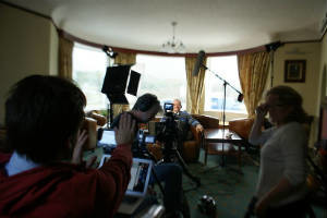 Halifax documentary crew shooting documentary co-production on location in Scotland